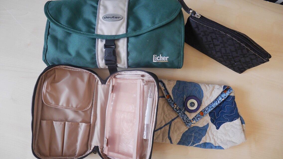 Minimalismus- Wie viele Taschen braucht ein Mensch? Kulturtaschen