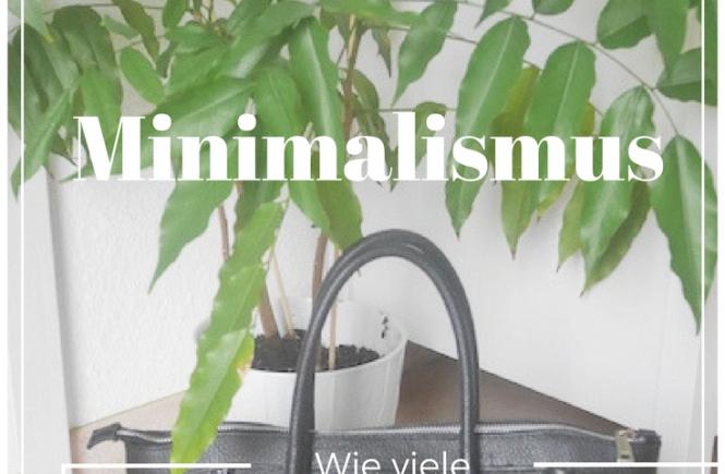 Minimalismus- wie viele Taschen braucht ein Mensch Beitragsbild