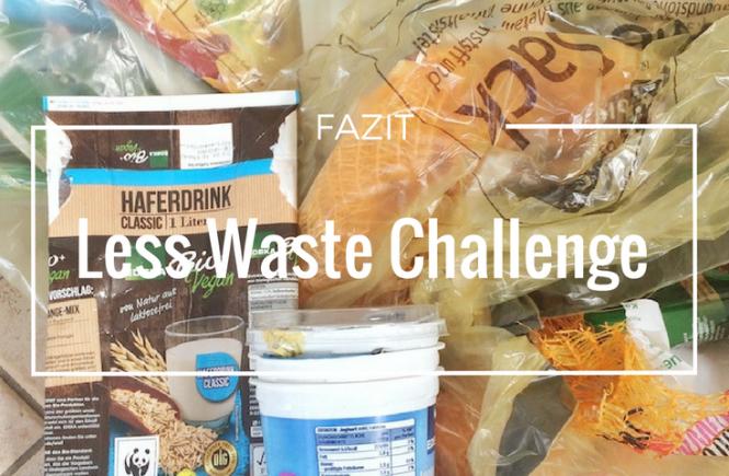 Plastikmüll Less Waste Challenge