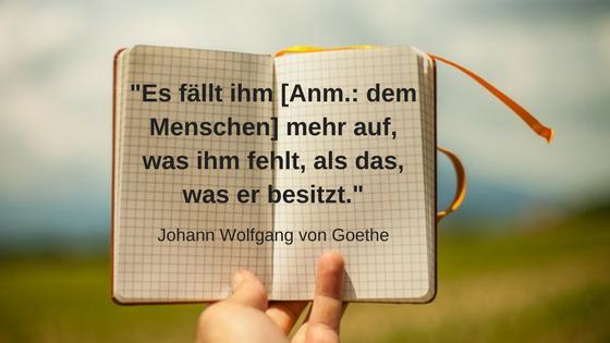 11 inspirierende Minimalismus Zitate: Johann Wolfgang von Goethe 1