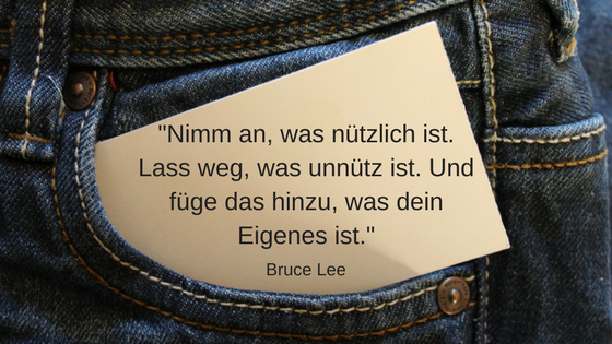 11 inspirierende Minimalismus Zitate: Bruce Lee