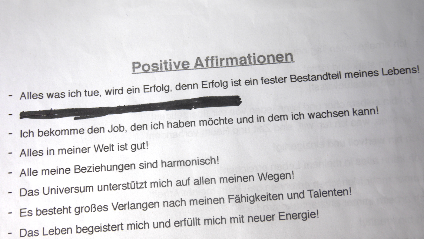 Positive Affirmationen