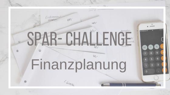Spar-Challenge: Meine Finanzplanung