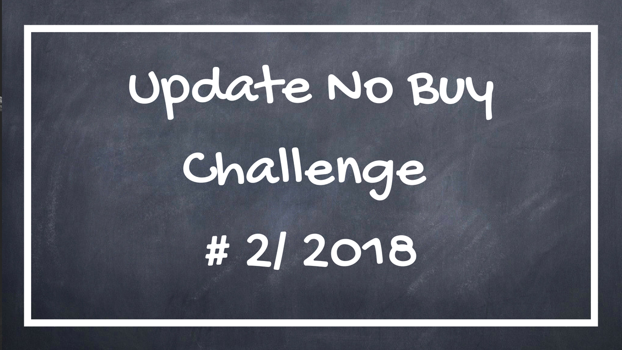 Update 2/ 2018 No Buy Challenge
