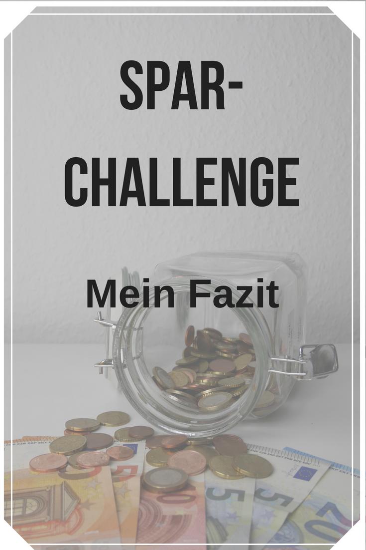 Mein Fazit zur Spar-Challenge