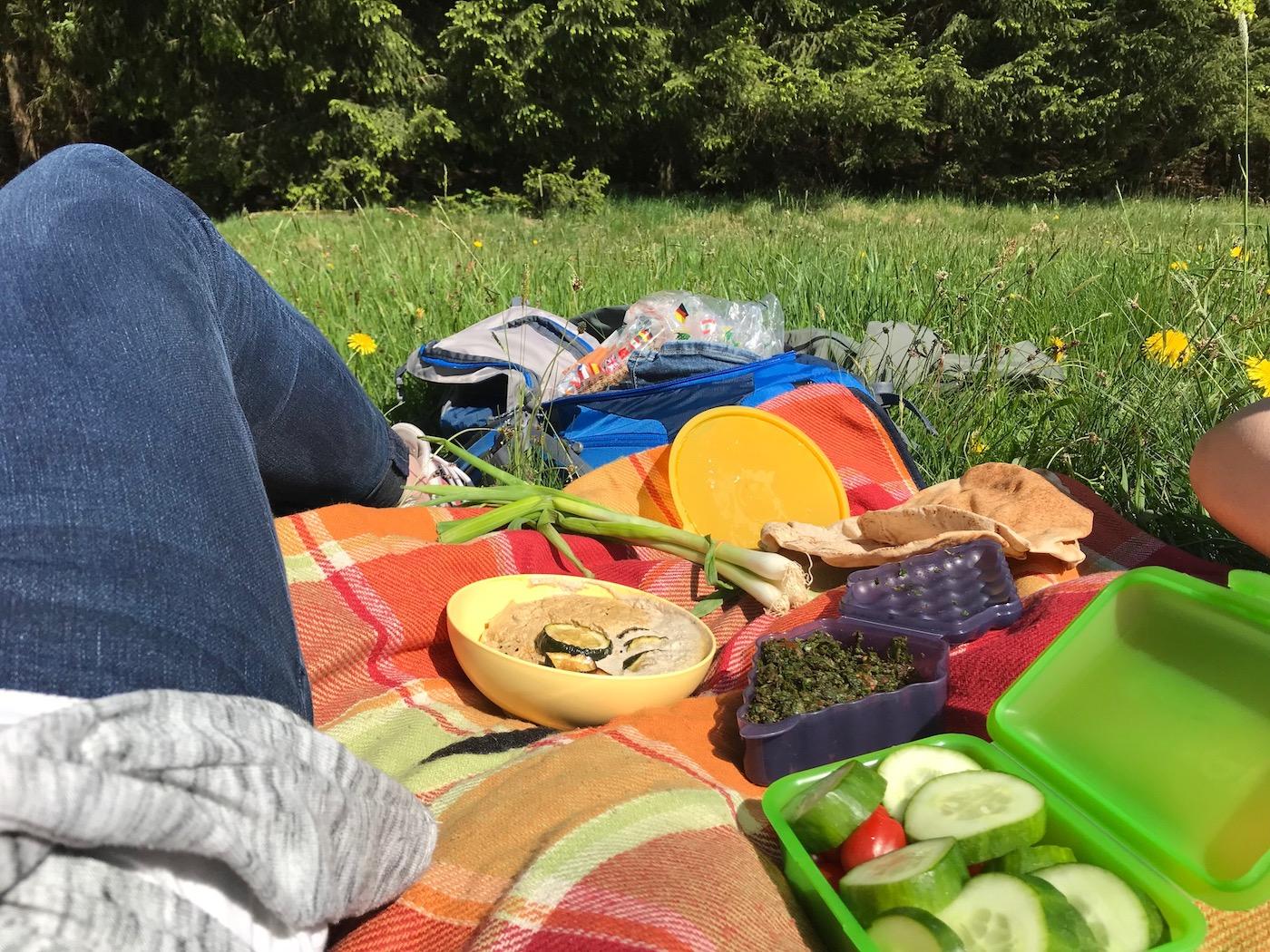 Picknicken im Feld