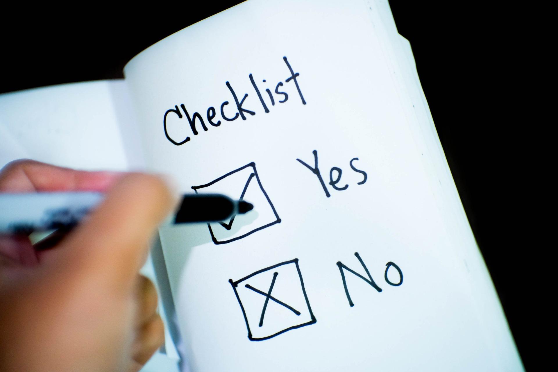 Checkliste zur Hilfe bei Entscheidungsmüdigkeit