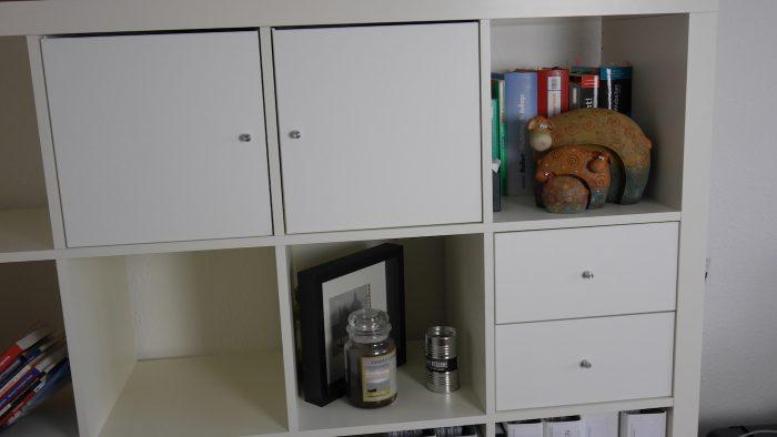 Einbausätze Kallax- Regal, Schubladen und Türen die während der No Buy Challenge gekauft wurden