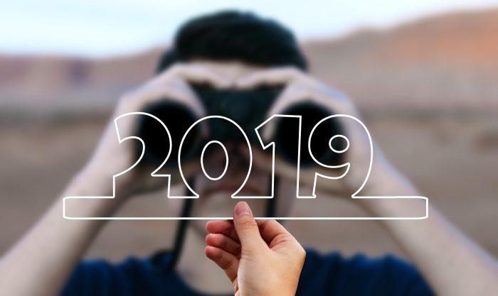 Ausschau halten 2019 mit Fernglas