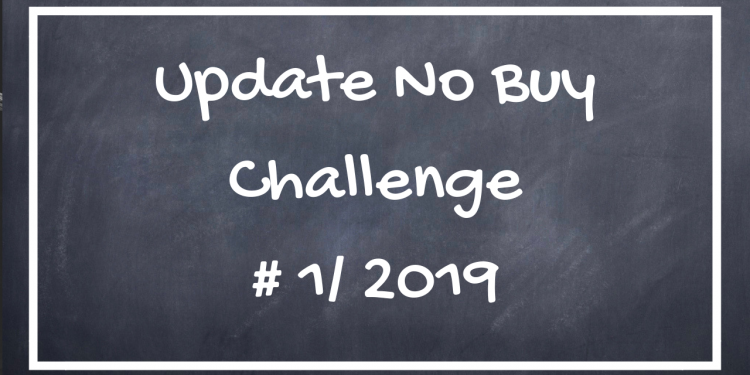Update No Buy Challenge #1 / 2019