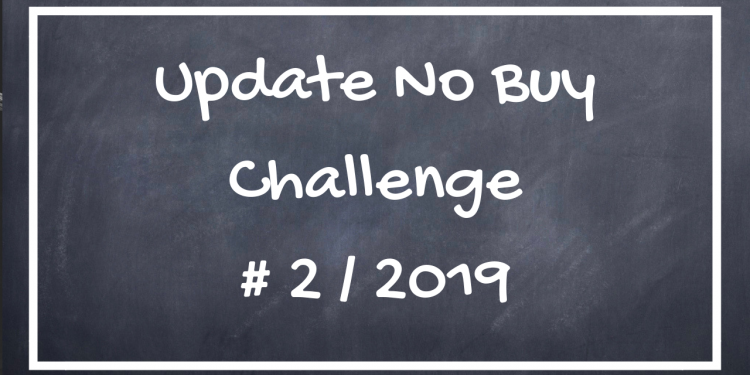 Update No Buy Challenge #2/2019