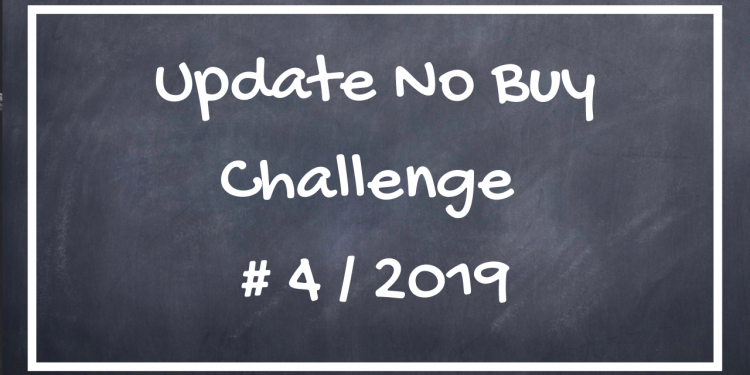 Update No Buy Challenge 2019
