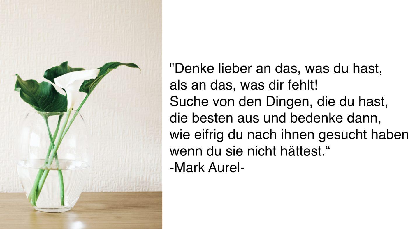 Faireinfache deinen Alltag_Zitat von Mark Aurel