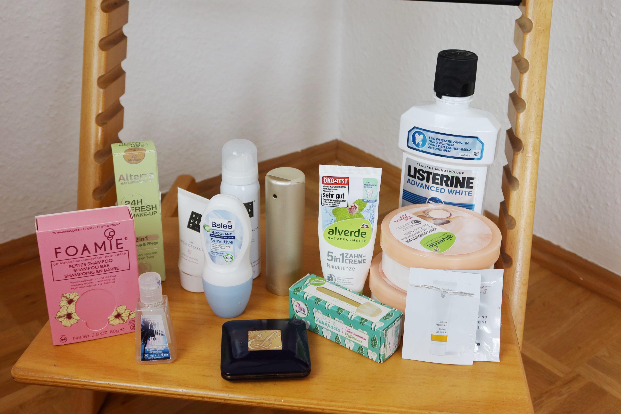 Aufgebrauchte Beauty-und Hygieneprodukte