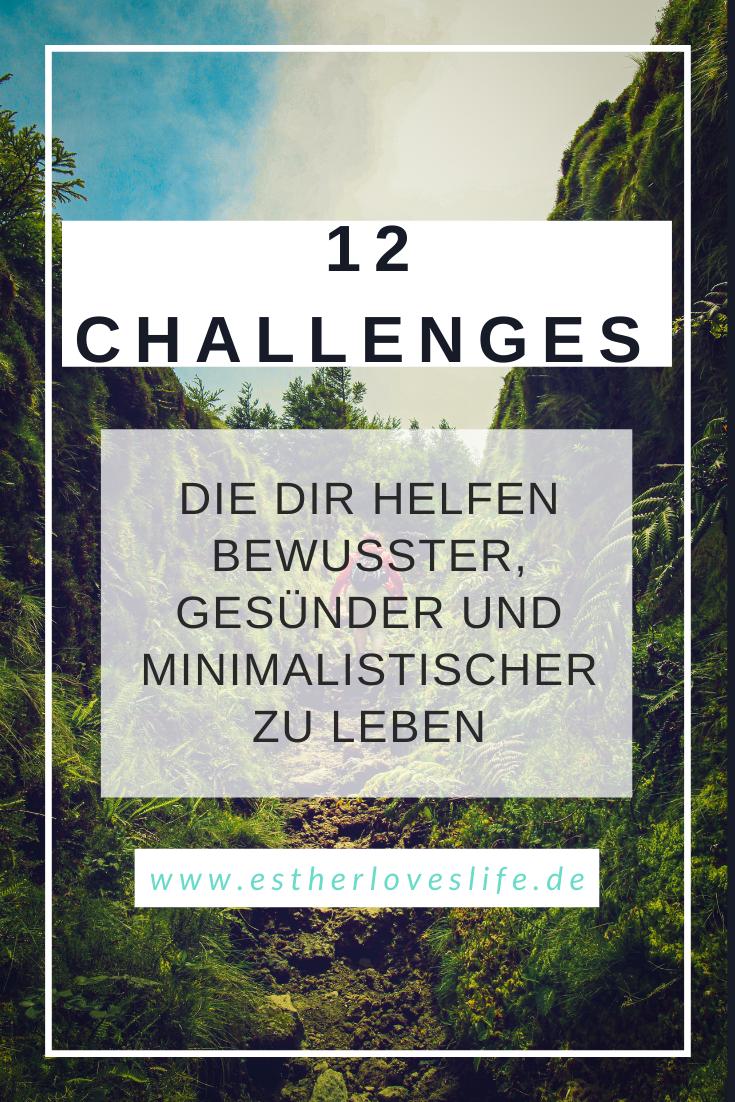 Pinterest, 12 Challenges für ein bewussteres gesünderes und minimalistisches Leben