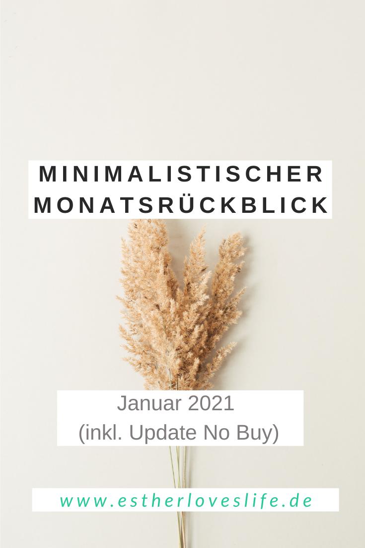Minimalistischer Monatsrückblick Januar 2021