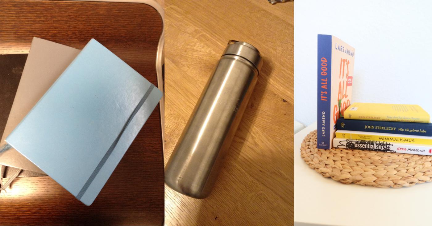 Minmalistischer Monatsrückblick_Aussortiert_Bücher_Flasche
