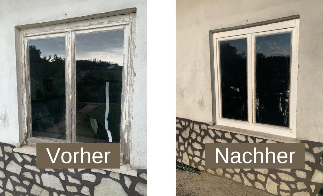 Monatsrückblick Juni_Vorher Nachher Foto Garagenfenster
